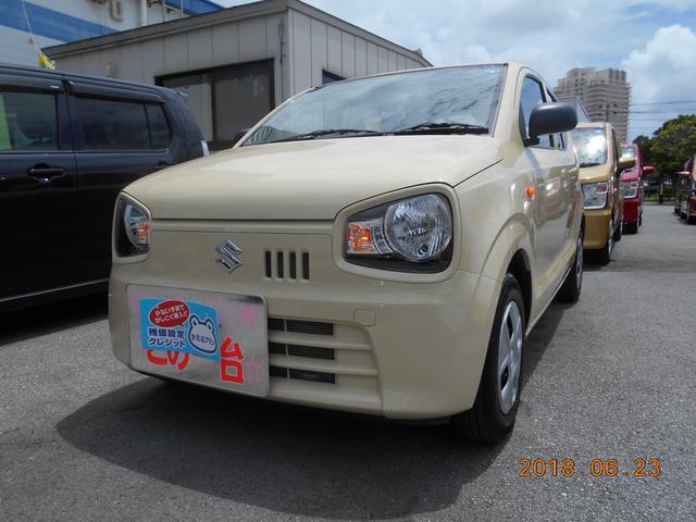 沖縄の中古車 スズキ アルト 車両価格 65万円 リ済別 平成29年 0.6万km シフォンアイボリーメタリック