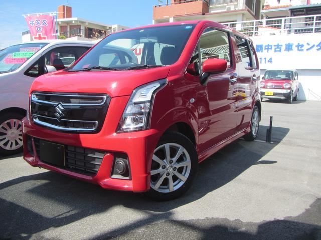 沖縄の中古車 スズキ ワゴンRスティングレー 車両価格 125万円 リ済別 平成30年 0.4万km ピュアレッド