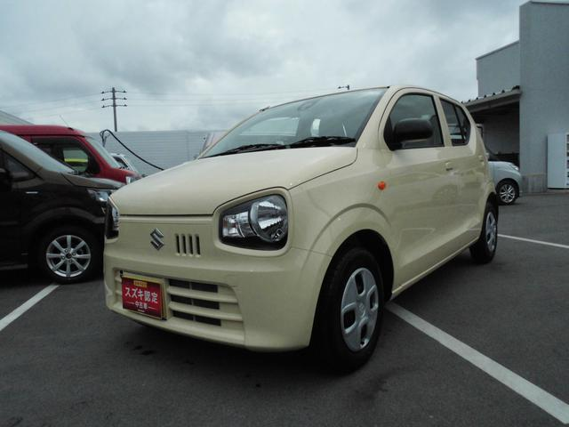 沖縄の中古車 スズキ アルト 車両価格 73万円 リ済別 平成30年 0.3万km シフォンアイボリーメタリック