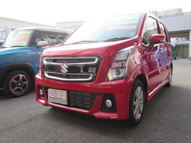 沖縄の中古車 スズキ ワゴンRスティングレー 車両価格 130万円 リ済別 2018(平成30)年 0.3万km ピュアレッド