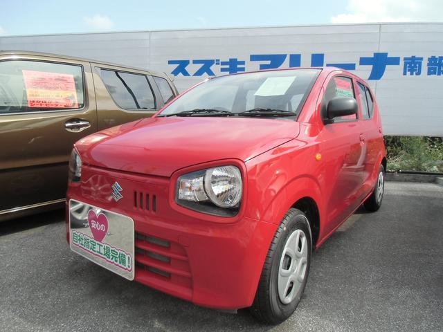 沖縄の中古車 スズキ アルト 車両価格 70万円 リ済別 平成30年 1.0万km ピュアレッド