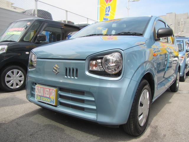 沖縄の中古車 スズキ アルト 車両価格 73万円 リ済別 2018(平成30)年 0.6万km フィズブルーパールメタリック