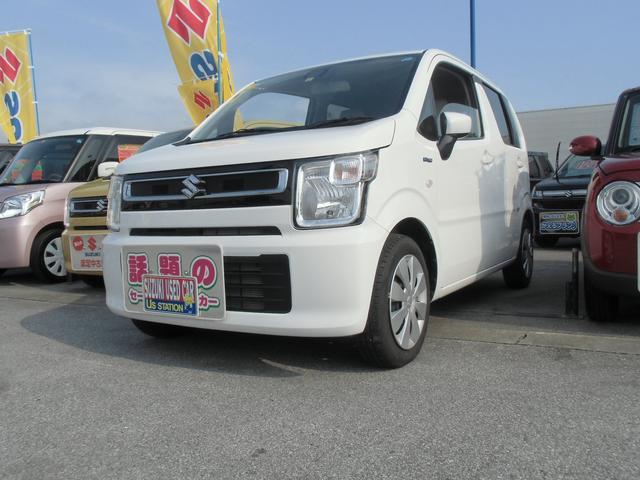 沖縄の中古車 スズキ ワゴンR 車両価格 108万円 リ済別 平成30年 0.2万km スペリアホワイト