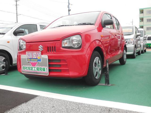 沖縄の中古車 スズキ アルト 車両価格 71万円 リ済別 2018(平成30)年 0.7万km ピュアレッド
