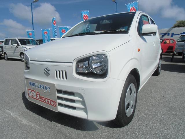 沖縄の中古車 スズキ アルト 車両価格 79万円 リ済別 2018(平成30)年 0.6万km スペリアホワイト