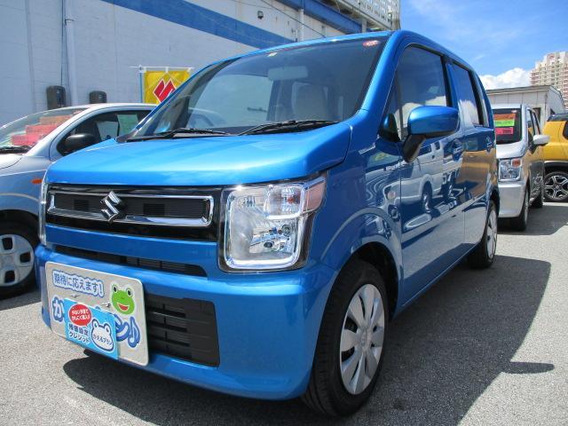 沖縄の中古車 スズキ ワゴンR 車両価格 105万円 リ済別 2019(平成31)年 0.2万km ブリスクブルーメタリック