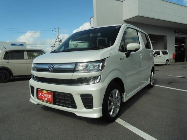 沖縄の中古車 スズキ ワゴンR 車両価格 134万円 リ済別 2019(平成31)年 0.5万km ピュアホワイトパール