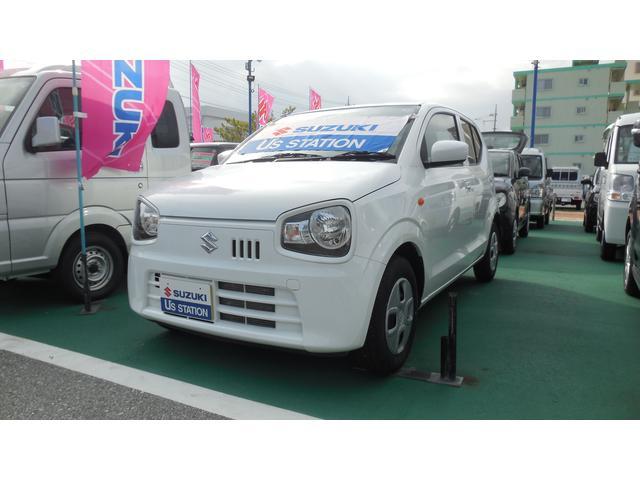 沖縄の中古車 スズキ アルト 車両価格 82.1万円 リ済別 2018(平成30)年 0.5万km ホワイト