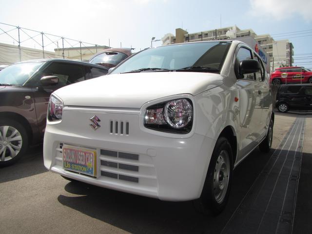 沖縄の中古車 スズキ アルト 車両価格 59万円 リ済別 2018(平成30)年 0.2万km ホワイト