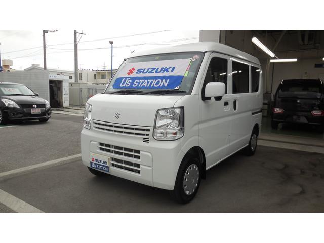 沖縄の中古車 スズキ エブリイ 車両価格 105万円 リ済別 2019(平成31)年 0.7万km ホワイト