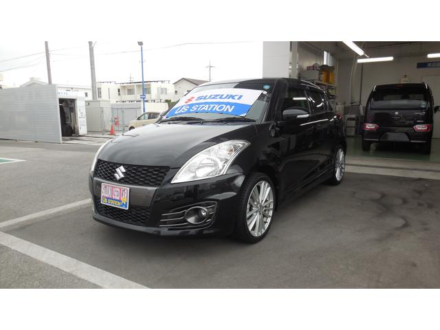 沖縄の中古車 スズキ スイフトスポーツ 車両価格 125万円 リ済別 2013(平成25)年 2.1万km スーパーブラックパール