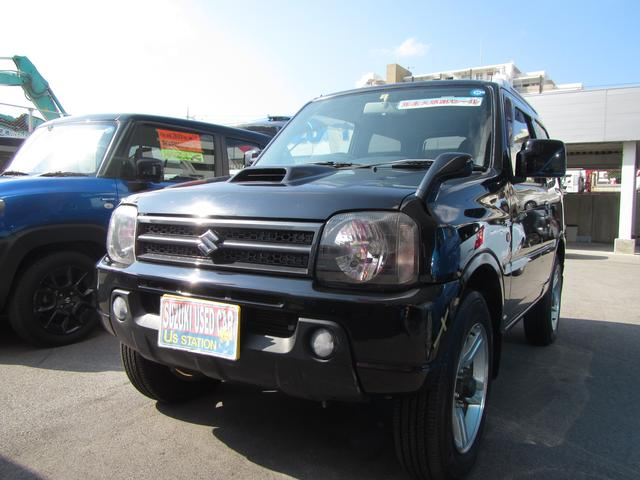 沖縄の中古車 スズキ ジムニー 車両価格 78万円 リ済別 2007(平成19)年 3.7万km ブルーイッシュブラックパール3
