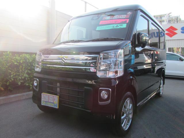 沖縄の中古車 スズキ エブリイワゴン 車両価格 155万円 リ済別 2018(平成30)年 1.0万km ブルーイッシュブラックパール3