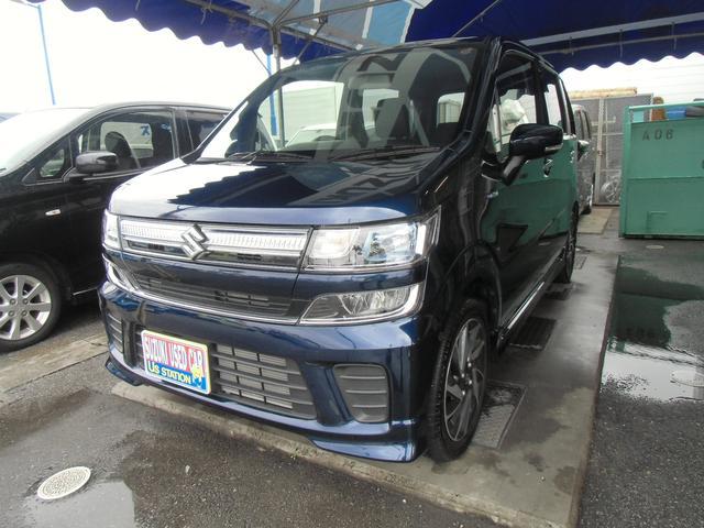 沖縄の中古車 スズキ ワゴンR 車両価格 127万円 リ済別 2019(平成31)年 0.2万km ノクターンブルーパール