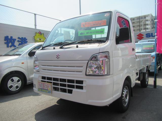 沖縄の中古車 スズキ キャリイトラック 車両価格 84万円 リ済別 2019(令和1)年 11km ホワイト