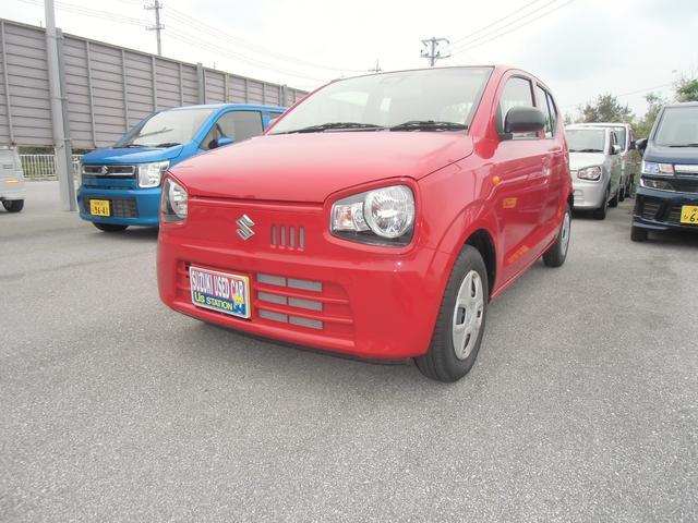 沖縄の中古車 スズキ アルト 車両価格 80万円 リ済別 2019(平成31)年 0.6万km ピュアレッド