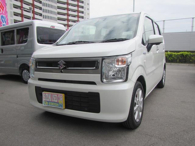 沖縄の中古車 スズキ ワゴンR 車両価格 125万円 リ済別 2019(令和1)年 0.9万km ピュアホワイトパール