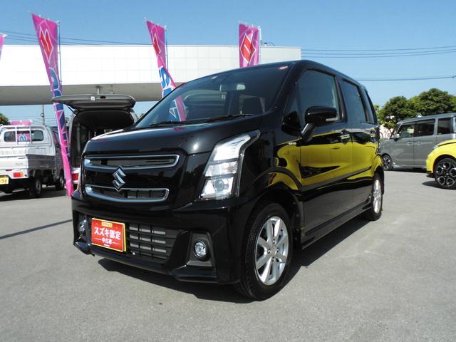 沖縄の中古車 スズキ ワゴンRスティングレー 車両価格 131万円 リ済別 2019(平成31)年 0.6万km ブルーイッシュブラックパール3