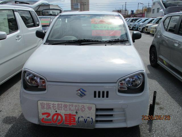 沖縄の中古車 スズキ アルト 車両価格 73万円 リ済別 2019(平成31)年 0.9万km ホワイト