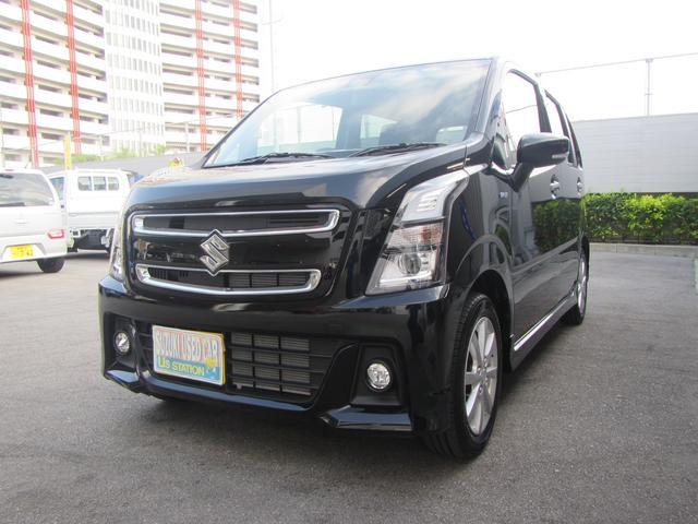 沖縄の中古車 スズキ ワゴンRスティングレー 車両価格 126.1万円 リ済別 2019(令和1)年 0.2万km ブルーイッシュブラックパール3