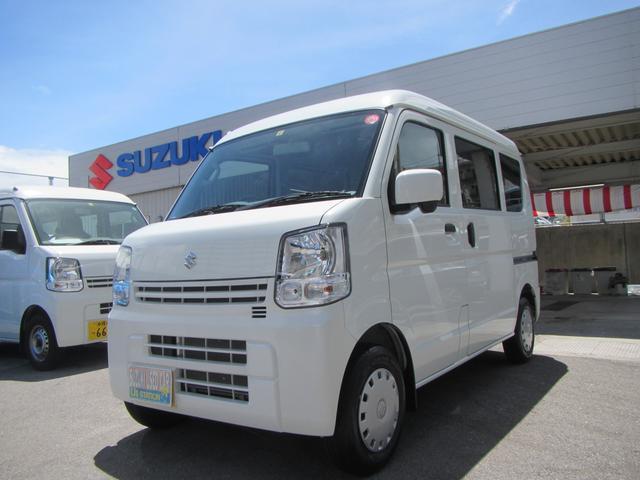 沖縄の中古車 スズキ エブリイ 車両価格 106万円 リ済別 2019(令和1)年 0.4万km ホワイト