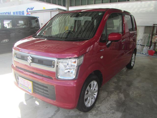 沖縄の中古車 スズキ ワゴンR 車両価格 116万円 リ済別 2019(令和1)年 0.5万km フェニックスレッドパール