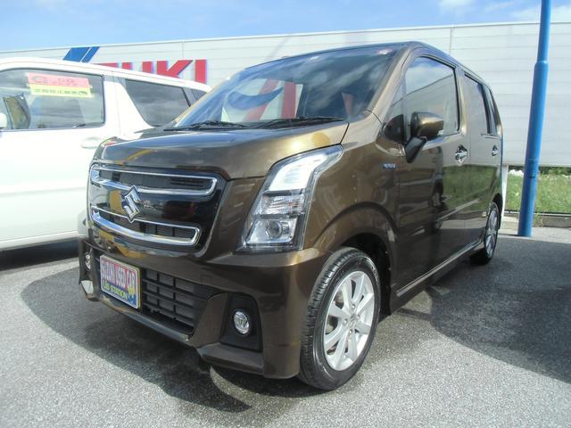 沖縄の中古車 スズキ ワゴンRスティングレー 車両価格 131万円 リ済別 2019(令和1)年 0.7万km ブレイブカーキパール