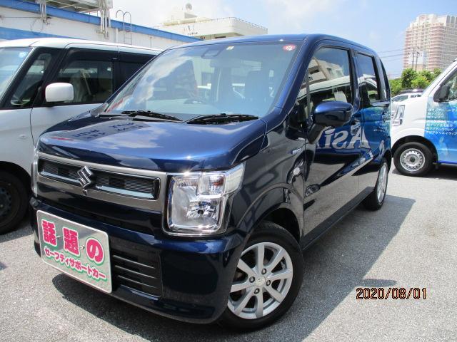 沖縄の中古車 スズキ ワゴンR 車両価格 116万円 リ済別 2019(令和1)年 0.9万km ノクターンブルーパール