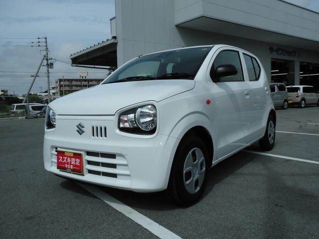 沖縄の中古車 スズキ アルト 車両価格 80万円 リ済別 2019(令和1)年 0.1万km ホワイト