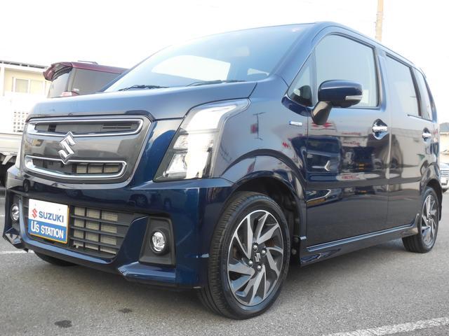 沖縄の中古車 スズキ ワゴンRスティングレー 車両価格 137.1万円 リ済別 2019(令和1)年 0.8万km ノクターンブルーパール