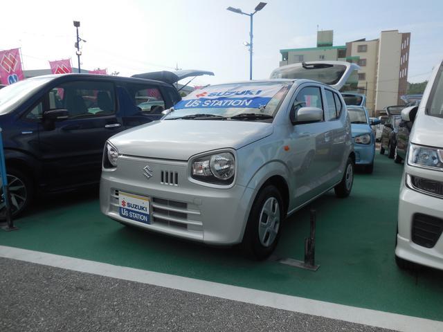 沖縄の中古車 スズキ アルト 車両価格 89万円 リ済別 2019(令和1)年 0.5万km シルキーシルバーメタリック