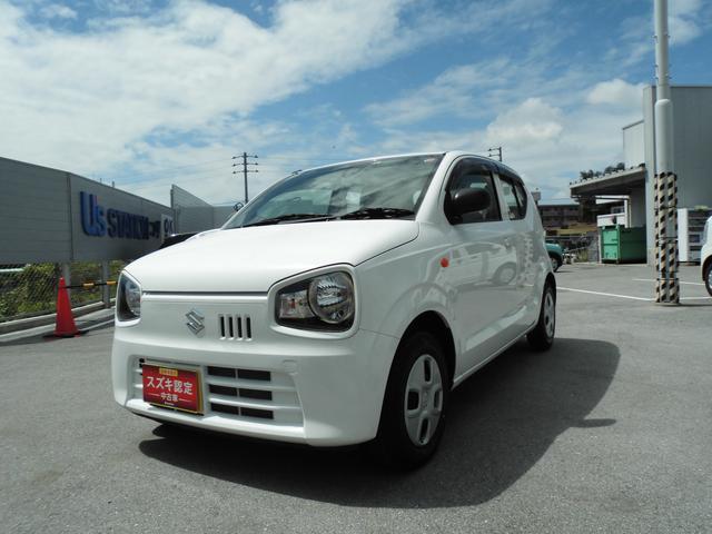 沖縄の中古車 スズキ アルト 車両価格 59万円 リ済別 2018(平成30)年 2.3万km ホワイト