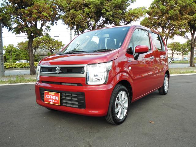 沖縄の中古車 スズキ ワゴンR 車両価格 113万円 リ済別 2019(令和1)年 0.7万km フェニックスレッドパール