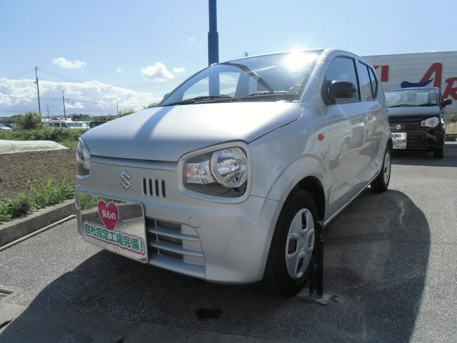 沖縄の中古車 スズキ アルト 車両価格 73万円 リ済別 2019(令和1)年 0.7万km シルキーシルバーメタリック