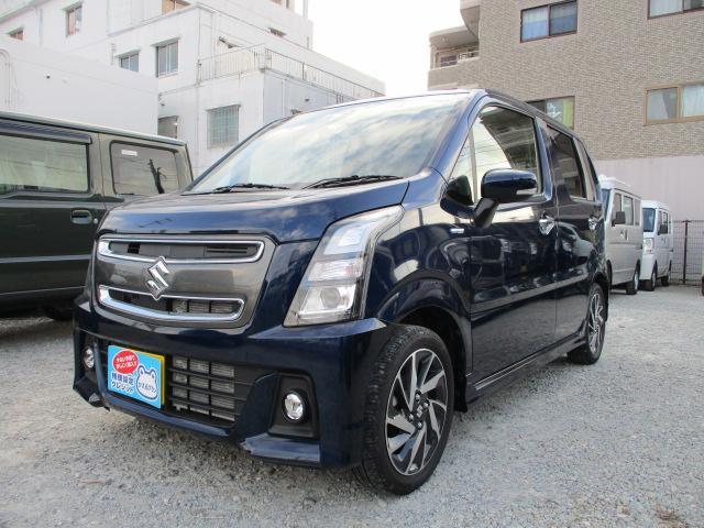 沖縄の中古車 スズキ ワゴンRスティングレー 車両価格 137.1万円 リ済別 2019(令和1)年 0.6万km ノクターンブルーパール