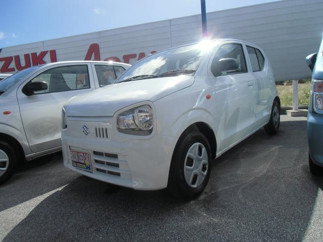 沖縄の中古車 スズキ アルト 車両価格 79万円 リ済別 2019(令和1)年 0.3万km ホワイト
