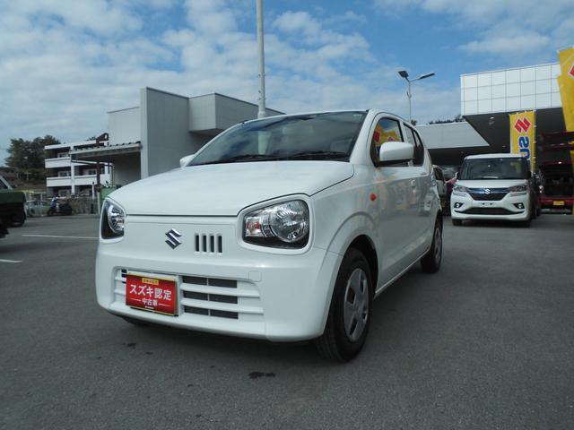 沖縄の中古車 スズキ アルト 車両価格 89万円 リ済別 2020(令和2)年 0.4万km ホワイト