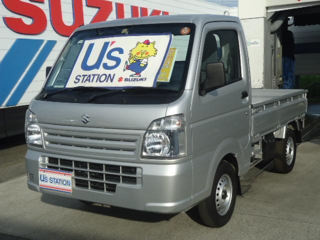 スズキ キャリイトラック KCエアコン・パワステ KCエアコンパワステ 4型  パートタイム4WD フロア5MT 運転席助手席エアバック ABS