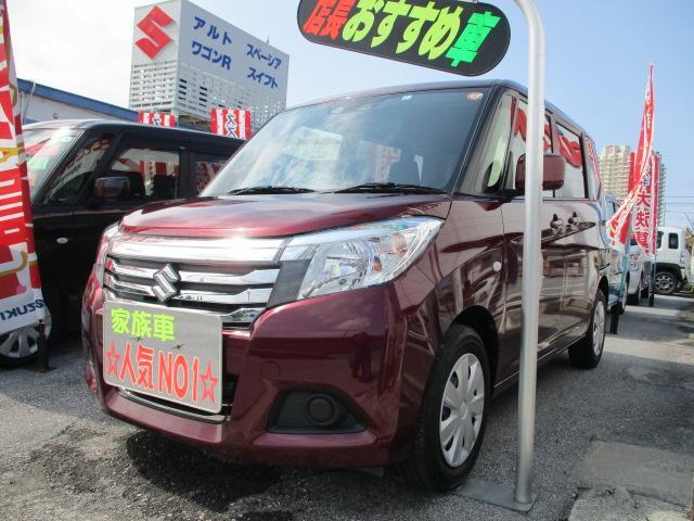 沖縄の中古車 スズキ ソリオ 車両価格 123万円 リ済別 2020(令和2)年 1.5万km クラレットレッドメタリック