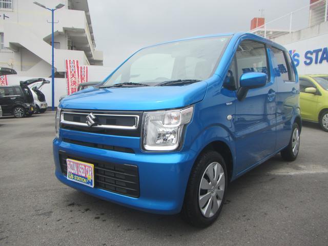 沖縄の中古車 スズキ ワゴンR 車両価格 99万円 リ済別 2020(令和2)年 0.3万km ブリスクブルーメタリック