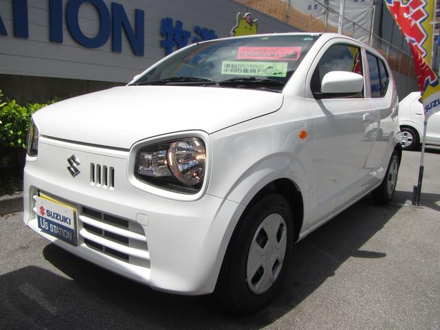 沖縄の中古車 スズキ アルト 車両価格 89万円 リ済別 2020(令和2)年 0.3万km ホワイト