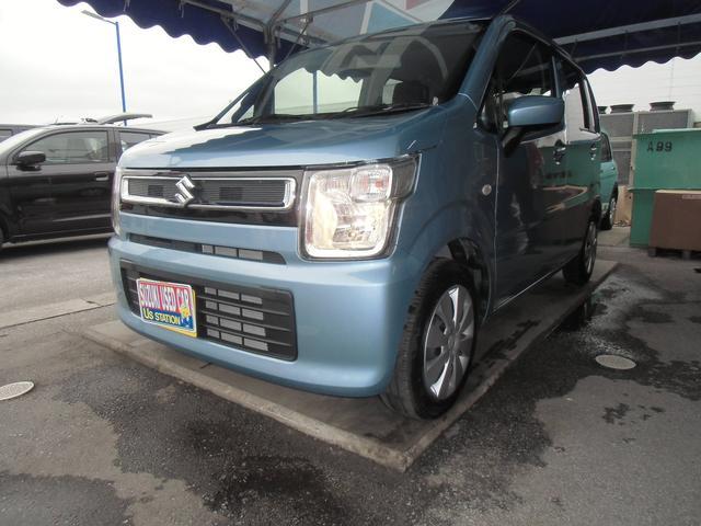 沖縄の中古車 スズキ ワゴンR 車両価格 89万円 リ済別 2020(令和2)年 0.5万km フィズブルーパールメタリック