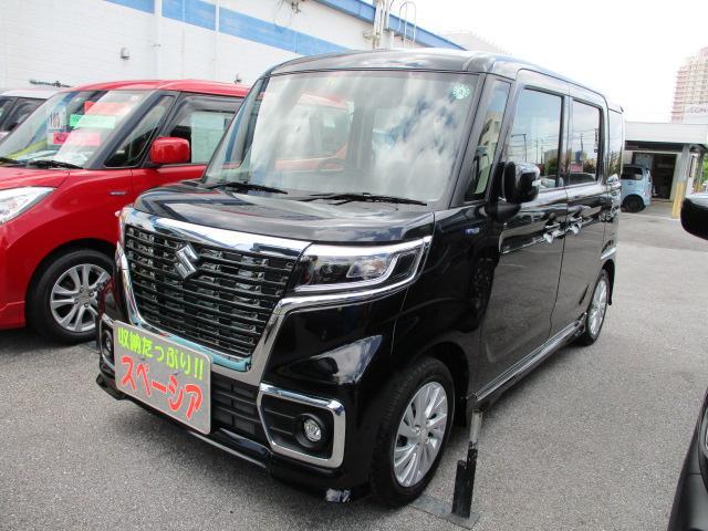 沖縄の中古車 スズキ スペーシアカスタム 車両価格 149万円 リ済別 2020(令和2)年 0.6万km ブルーイッシュブラックパール3