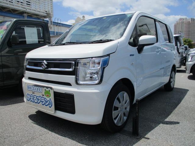 沖縄の中古車 スズキ ワゴンR 車両価格 107万円 リ済別 2020(令和2)年 0.4万km ホワイト