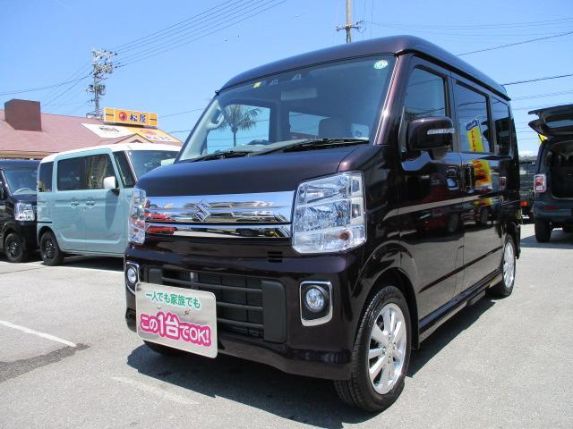 沖縄の中古車 スズキ エブリイワゴン 車両価格 153万円 リ済別 2020(令和2)年 0.4万km ムーンライトバイオレットパールメタリック
