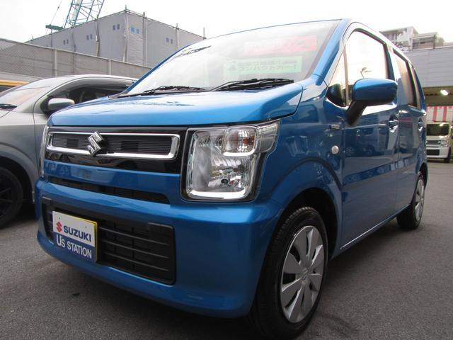 沖縄の中古車 スズキ ワゴンR 車両価格 99万円 リ済別 2020(令和2)年 0.2万km ブリスクブルーメタリック