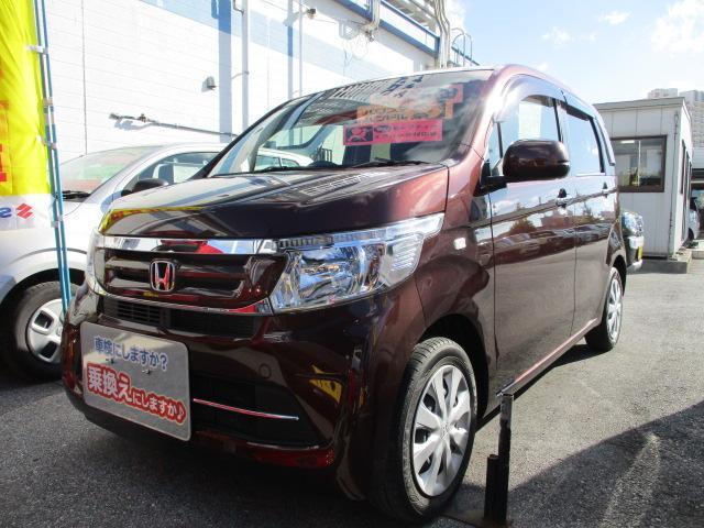 沖縄の中古車 ホンダ N-WGN 車両価格 87万円 リ済別 2018(平成30)年 3.2万km ブラウン
