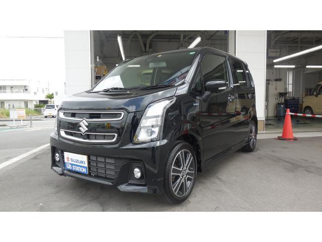 沖縄の中古車 スズキ ワゴンRスティングレー 車両価格 155万円 リ済別 2020(令和2)年 1.0万km ブルーイッシュブラックパール3