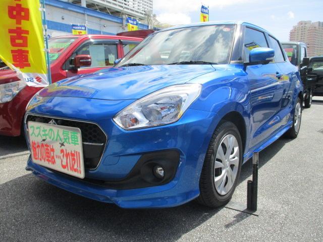 沖縄の中古車 スズキ スイフト 車両価格 124万円 リ済別 2019(令和1)年 0.6万km スピーディーブルーメタリック
