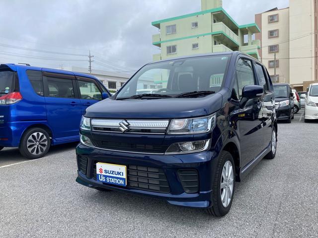 沖縄の中古車 スズキ ワゴンR 車両価格 125万円 リ済別 2020(令和2)年 0.5万km ノクターンブルーパール